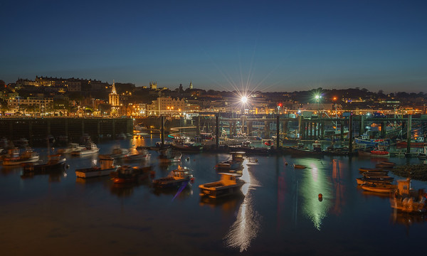 Night, St. Peter Port, Guernsey