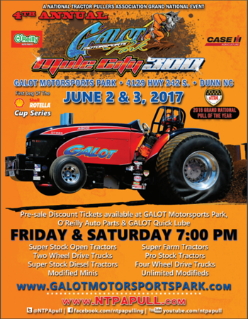 4th Annual Mule City 300 NTPA  PULL 6-2-17