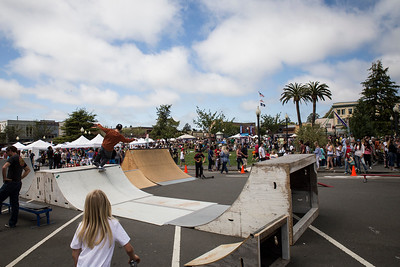 RampArt skatepark brought ramps out for kids to skate during the Arcata Fourth of July celebrations in the plaza. (Sam Armanino - Times-Standard)