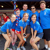 Community Service employees Marissa Laderbush, Erin Morrissey, Steve DeFrancesco, Emily Walker, Dennis Ong, Connie Ong, and Leo Frisella pose for a photo at the Livingston Street Recreational Center during the annual 4th of July event. (The Sun / Chris Tierney)