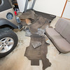 Here's all the carpet removed from the Jeep.