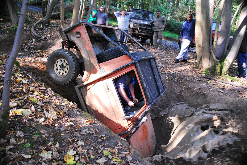 This was the crash landing that the driver was not expecting.