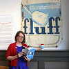"Lynn, MA--May 4, 2017-Mimi Graney, author of ""FLUFF: The Sticky Sweet Story of an American Icon.""  at Lynn Museum/LynnArts 117th annual meeting.  Ms. Graney tells the story of not just FLUFF but the merits and pitfalls of adaptation and innovation. Her talk will touch on New England's forgotten candy industry, changing social roles for women, the advent of commercial radio and modern advertising and the supermarket revolution. FLUFF has survived wars, corporate attacks, nutrition battles, and the rise and fall of manufacturing towns. The world has changed around it, yet this icon remains the same. <br /> <br /> Item Photo By Owen O'Rourke"