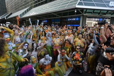 (5)  BODYPAINTING  DAY  2015  NYC   -   Dag  Hammarksjold  Plaza,  Manhattan  NYC