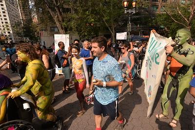 BODYPAINTING  DAY  2015  NYC   -   Dag  Hammarksjold  Plaza,  Manhattan  NYC