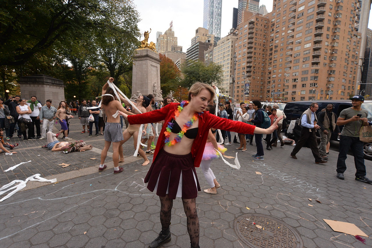 (5)  LOOPING  COLUMBUS  CIRCLE  2015  NYC   -   59 Street  &  Central  Park  West,  Manhattan  NYC