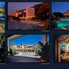 collage of Gainey Ranch, Sheraton Rio, Phoenecian, Marriott Newport