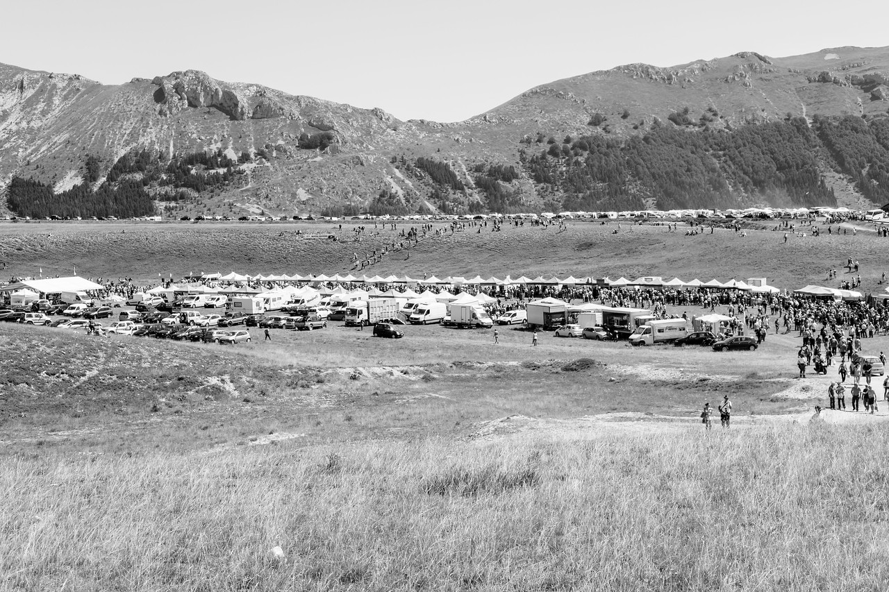 Extrémité est du plateau montagnard Campo Imperatore où se tient le rassemblement annuel