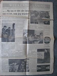 Avisudklipning fra  den 23 December 1960
