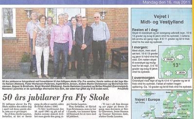 Peder Pedersen sendte denne avis udklipning fra Skive Folkeblad Mandag den 16 maj 2011