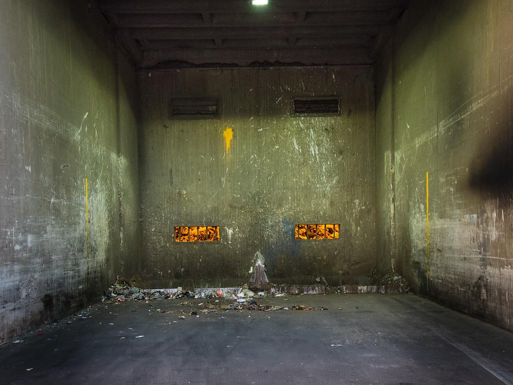 Anlieferung in Müllverbrennungsanlage