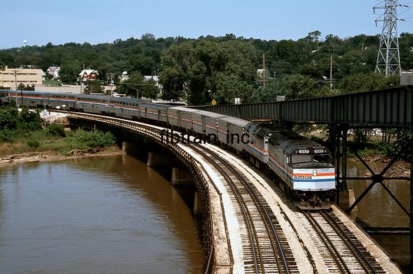 AM1990070003 - Amtrak, Ft. Madison, IA,  7/1990