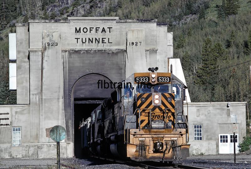 DRG1976080021 - Rio Grande, Moffat Tunnel, CO,  8/1976