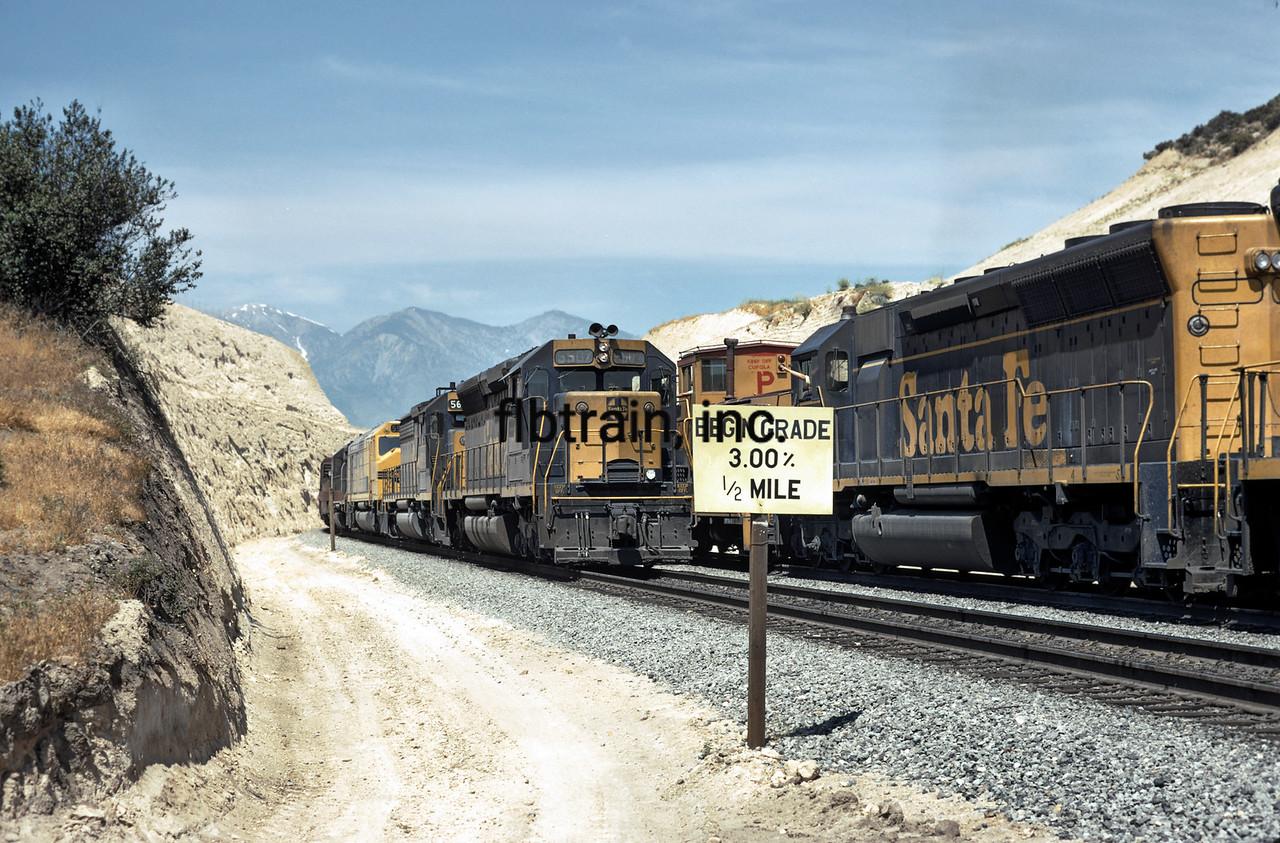 SF1973060025 -  Santa Fe, Cajon Pass, CA, 6/1973