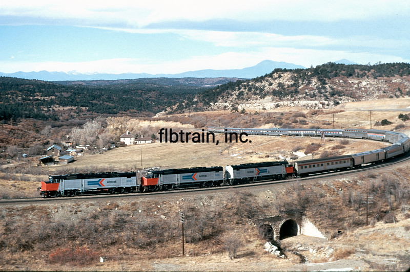 AM1973110033 - Amtrak, Raton Pass, NM, 11/1973