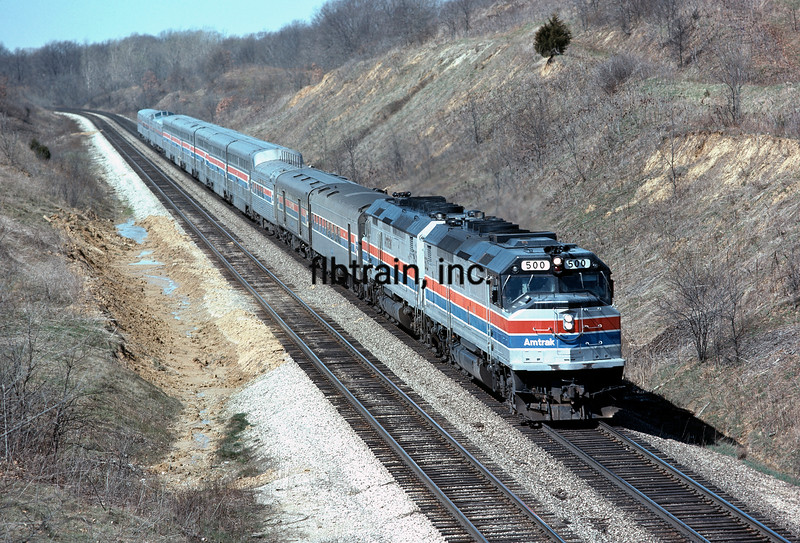 AM1977040029 - Amtrak, Argyle, IA, 4/1977