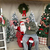 Steve Chamberland of Tampa, Fla., a Dracut native and founder of 50 Legs, tells Santa what he wants.
