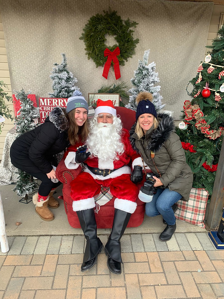 From left, Tess Acabbo, left, and Jennifer Hammond, both of Westford, have requests for Santa.