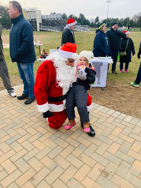 Santa and Chloe McLellan of Quincy