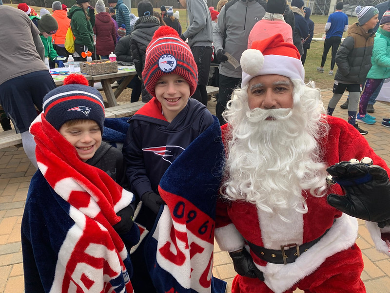 Santa with  Austin and Broden Morse of Nashua