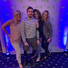 Boston Marathon survivor and double-amputee Jeff Bauman of Carlisle, with beauties, from left, Tracy Adley of Chelmsford, Jennifer Joyce of Dunstable and Lynda Sarno of Billerica