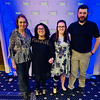 From left, Sue Whitman of Tyngsboro with 50 Legs recipients Olivia Peace of Tyngsboro, and Lauren Faeth and Garrett Burns of Maine