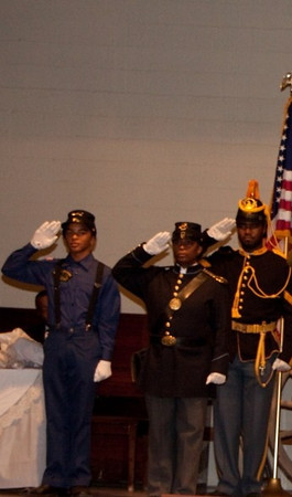 1st Annual Buffalo Soldiers Formal Ball Dinner, Mesa Historical Museum, Mesa, AZ, October 17, 2009.  Buffalo Soldiers of the Arizona Territory - Ladies and Gentlemen of the Regiment, Mesa, AZ. L/R: DeVante London (Young Buffalo Soldier), Deputy Cmdr Michelle London-Marable, Sgt. Edward Reece,  and Cmdr Fred Marable.