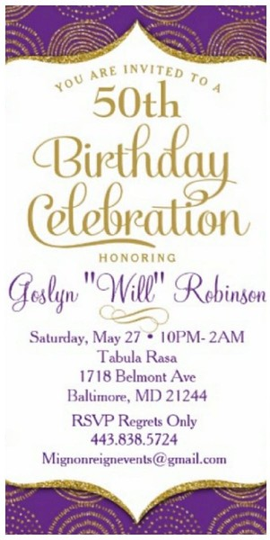 50th Birthday Celebration Honoring Will Robinson @ Tabula Rasa 5.27.17