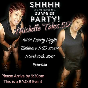 Michelle Takes 50 : Birthday Celebration @ The Forest Park Sr Center 3.10.17