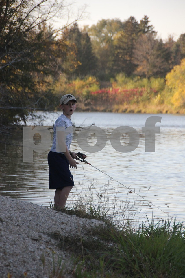 Noah Tool, pictured here,  had to try their luck at fishing , which was just another one of many activities for families attending the 50th Celebration for Kennedy Park and Trail held on Sunday, October 11, 2015. The event took place at Kennedy Park in Fort Dodge.