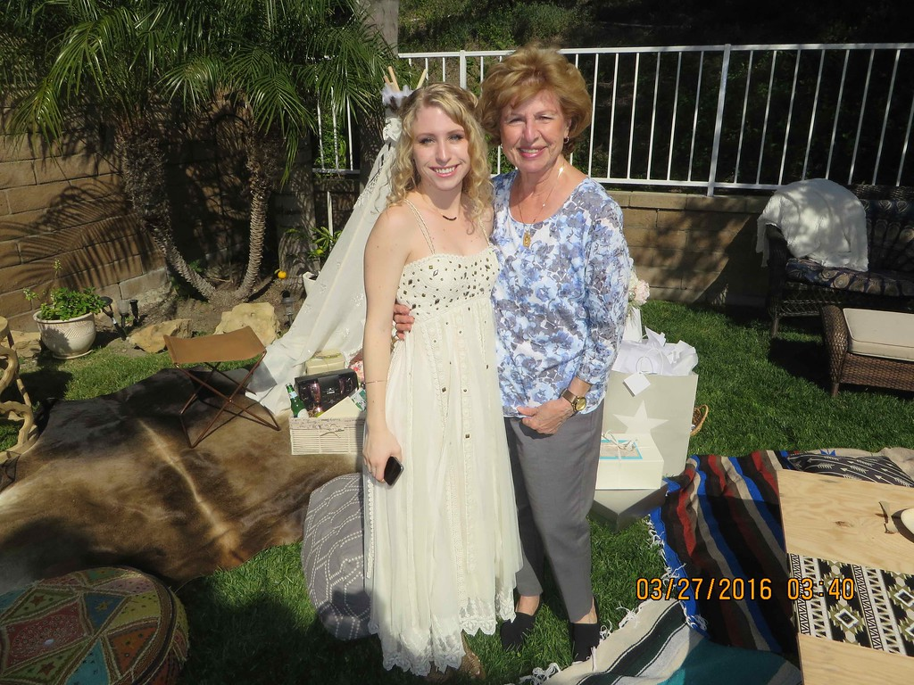 Lacey Cotton's Bridal Shower, March 26, 2016 held 540 Morningstar Drive, Anaheim Hills, California