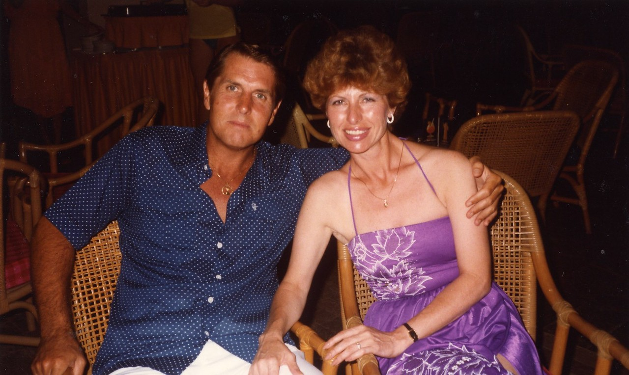 Dress for dinner Cancun with Lloyd during the 1980's