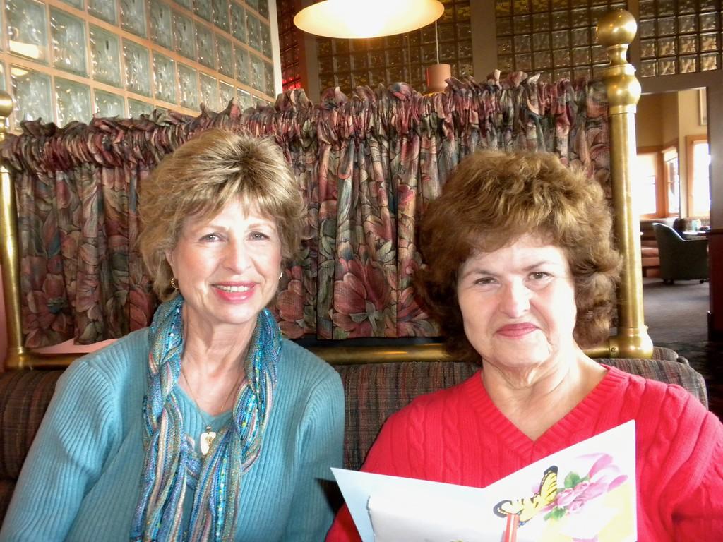 Mary's birthday celebration at the Deli