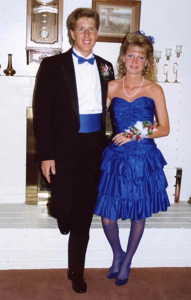 Full shot of Tommy and Hiedi before Tommy's Graduation Highschool Prom 1989