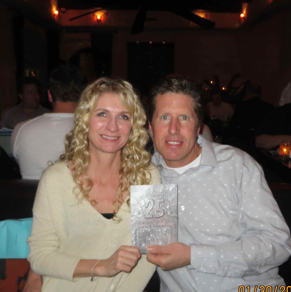 Tom & Hiedi celebrate their 25th wedding anniversary at Javier's in Newport Beach with their extended family members and friends on Friday, January 29th, 2016 at 7:00 PM.