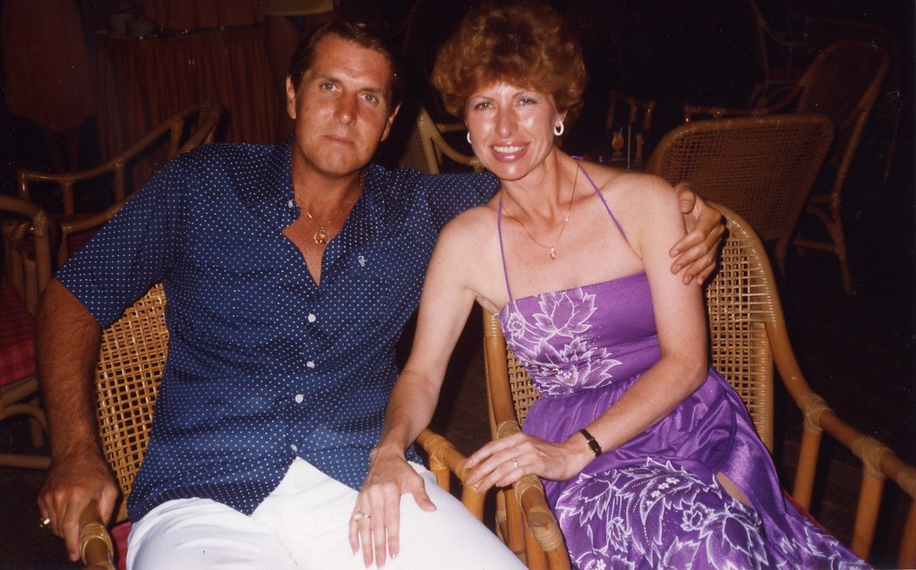 Tom and Betty Cancun with Lloyd during the 1980's