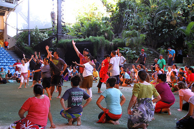 "Almost there: ""Silver"" rehearsal, September 5, 2013; Polynesian Cultural Center photo by Mike Foley"