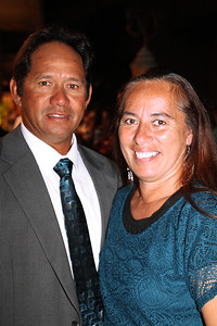 Robert and Sherry Kahawaii . . . at the Golden Jubilee Ball; Polynesian Cultural Center photo by Mike Foley