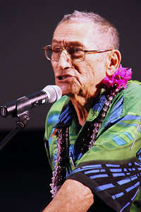 Dr. Ishmael Stagner II discusses the Hawaiian cultural heritage preserved by Latter-day Saints in Laie for the approximately 100 years before the Polynesian Cultural Center began; PCCphoto by Mike Foley