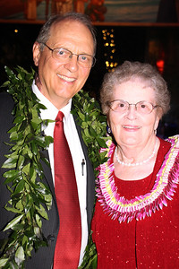 Former BYUH President — and interim PCC president — Eric Shumway and his wife, Carolyn, at the Golden Jubilee Ball; Polynesian Cultural Center photo by Mike Foley