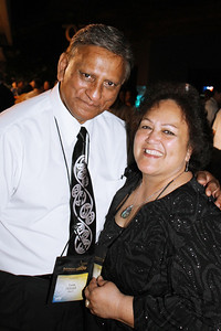 Luman (left) and Minerva Hohaia came from Olympia, Washington for the PCC 50th . . . at the Ball; Polynesian Cultural Center photo by Mike Foley