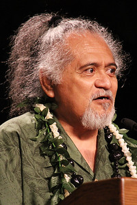 PCC alumnus Banner Fanene shares his testimony; Polynesian Cultural Center photo by Mike Foley