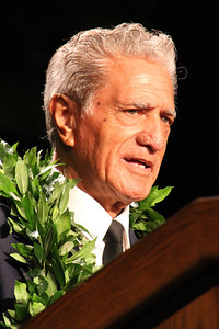 Labor missionary and PCC alumnus Percy TeHira shares his testimony; Polynesian Cultural Center photo by Mike Foley