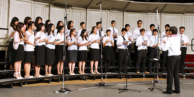 The Chinese choir in the PCC 50th Anniversary musical fireside; (Polynesian Cultural Center photo by Mike Foley)