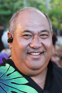 Vi'iga Fuimaono Jr. came from Samoa for the reunion; Polynesian Cultural Center photo by Mike Foley