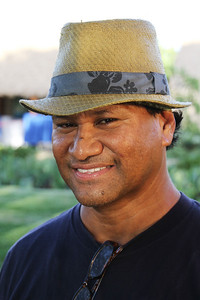 Alumnus Brent Lafoga Malolo came from Mesa, Arizona, for the reunion; Polynesian Cultural Center photo by Mike Foley