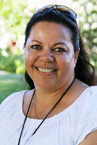 PCC alumna Tui Kaye Hunt Ikihega, who was born in Kahuku while her parents were early PCC employees, came from her home in Newcastle, NSW, Australia, for the reunion; Polynesian Cultural Center photo by Mike Foley