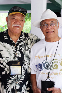 Two of the younger labor missionaries: Ofisi Pututau (left) and _____ Te'o; Polynesian Cultural Center photo by Mike Foley