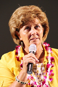 Sister Vicki Remund, a former senior missionary who has returned to the PCC several times as a temporary volunteer; Polynesian Cultural Center photo by Mike Foley