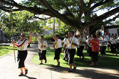 PCC/BYUH Alumni Brass Band plays marches on to Fiji for the first time since 1995; Polynesian Cultural Center photo by Mike Foley